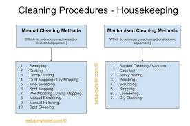 Types Of Cleaning Procedures In Hotel Housekeeping