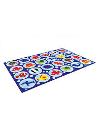 sea themed rectangular classroom rug