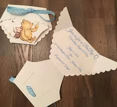 Do It Yourself Baby Shower Invitation Templates Diy Diaper Winnie The Pooh Invitation Template With