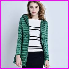 whole 2018 women 90 white duck down jacket women s hooded ultra light down jackets warm long winter coat parkas direct from china factory
