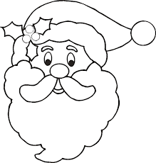Free Santa Claus Face Pictures Download Clip Art Large Coloring Page