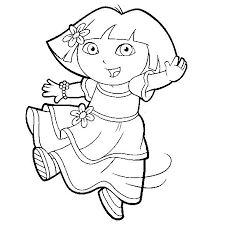 Coloring Pages Dora The Explorer Gifs Pnggif
