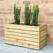 Forest Garden Linear Double Wooden Planter 80 x 40cm