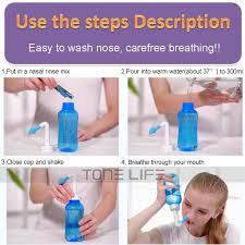 waterpulse 2 nozzle neti pot nasal wash bottle nose cleaner netipotideas
