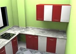 Red And White Kitchens L Shaped Kitchen Layout In Modern Home Design Ideas With Small