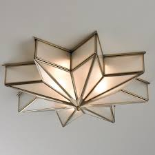 Glass Star Light Frosted Glass Star Ceiling Light In 2019 Star Lights On
