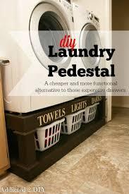 diy laundry pedestal brilliant diy laundry room organization ideas and tips diy laundry room