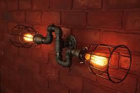 plumbing pipe light fixture mount wall