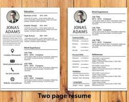 Custom Resume Template , Resume Extra page ,Word Resume Template, Photoshop  Resume Template ,