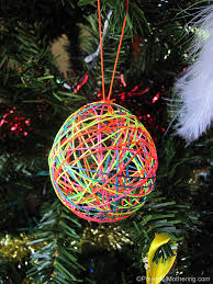 How To Make String Ball Decorations Inspiration Yarn Or String Ball Christmas Ornaments
