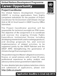 Project Coordinator Jobs In United Nations Development Programme