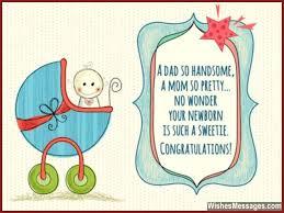New Born Baby Greeting Card Newborn Ba Boy Handmade Invitation Cards