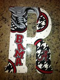 >alabama crimson tide custom hand painted door hanger wall art  alabama crimson tide custom hand painted door hanger wall art 65 00