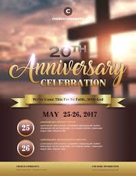 anniversary poster template church anniversary flyer template postermywall stackeo me