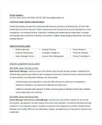 Bank Manager Resume Sample Bank Branch Manager Commercial Banking ...