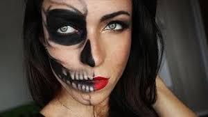 half skull half glamour mak