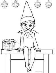coloring page elf girl elf coloring sheet elf on the shelf coloring pages coloring pages elf