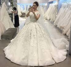vintage ball gown wedding dresses with cap sleeves bridal gowns