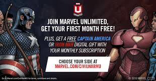 marvel enternment on twitter sign up for marvel unlimited with codes teamcap or teamim get one month free plus a gift s t co dbtf6s0ka6