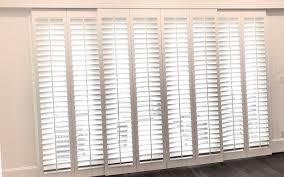 plantation shutters for sliding glass
