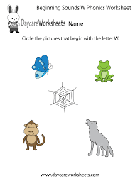 Phonics worksheets to support your child's learning and help them prepare for the year 1 phonics screening check. Free Beginning Sounds Letter W Phonics Worksheet For Preschool Preschool Phonics Worksheets Preschool Phonics Phonics Worksheets