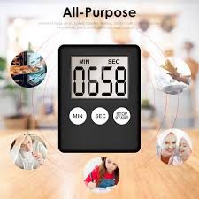 Super Thin LCD Digital Screen Kitchen Timer Square Cooking ...