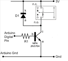 dc motors relays use arduino for projects dc motors relays schematic
