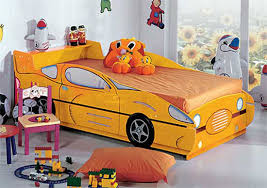 bed designs for kids. Yellow Race Car Shaped Beds Designs For Kids Room Bed