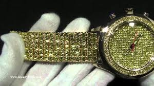 custom canary bubble gl face fully iced out top quality bling bling watch hip hop jewelry you
