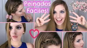 6 Peinados F Ciles Y R Pidos Para Cabello Largo O Corto Youtube