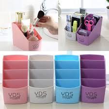 plastic desk holder organizer storage box makeup case office accessories 11street msia travel pouches organizers