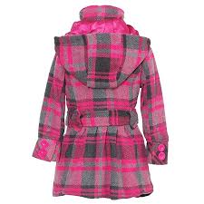 pink pea coat dollhouse toddler girls pink gray plaid pea coat jacket outerwear 2 style