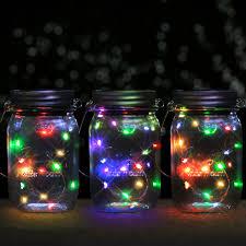7 colors changing mason jar solar light lids for diy mason jar fairy lights lanterns