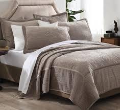 3 piece queen vanderbilt taupe velvet quilt set