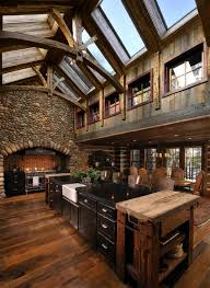 Models Rustic Cabin Kitchens 15 Warm Cozy Kitchen Designs For Your In Perfect Ideas
