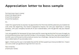 sample of appreciation letter appreciation letter to boss sample thank you letter to boss