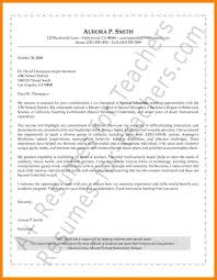 8 Special Education Cover Letter Offecial Letter