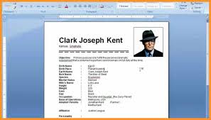 how to make resume on microsoft word | bio letter format