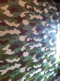 The Main Wall In Georgeu0027s New Bedroom Decorated In Camo Wallpaper
