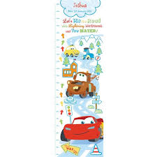 Disney Pixar Cars Growth Chart Personalised Red Wrappings