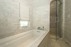 drop in bathtub fabulous bathroom features paneled drop in bathtub with linear marble shower surround situated drop in bathtub