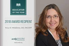 """midwesternuniv on Twitter: """"Midwestern University congratulates Tracy  Middleton, D.O., FACOFP, Chair of Clinical Education for the Arizona  College of Osteopathic Medicine, on being named Educator of the Year by the  American College"""