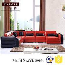 u shape black match white genuine sectional leather sofa set china leader living room supplier in sofas from furniture on and