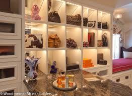 purse storage ideas display shelves glazed cabinetry handbag storage marble counter top antique pendant window seat
