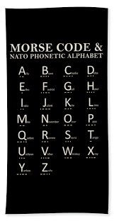 The international phonetic alphabet (ipa) can be used to represent the sounds of any language, and is used in a phonetic script for english created in 1847 by isaac pitman and henry ellis was used as a model for the ipa. Morse Code And Phonetic Alphabet Beach Towel For Sale By Mark Rogan