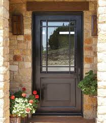 front door with window27 Chic Dark Front Doors To Try For Your Entry  Shelterness