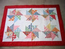 Baby Quilt. | Bunks' Blog & Closeup of pinwheel, machine quilted ... Adamdwight.com