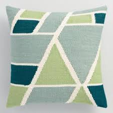 blue and green throw pillows. Cool Geometric Indoor Outdoor Throw Pillow Blue And Green Pillows