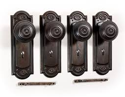 antique door knobs. SOLD Two Matching Antique Door Hardware Sets With Daisy Design, C. 1910. \u2039 \u203a Knobs N