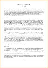 Sample Loan Agreement Letter Between Two Parties With Of